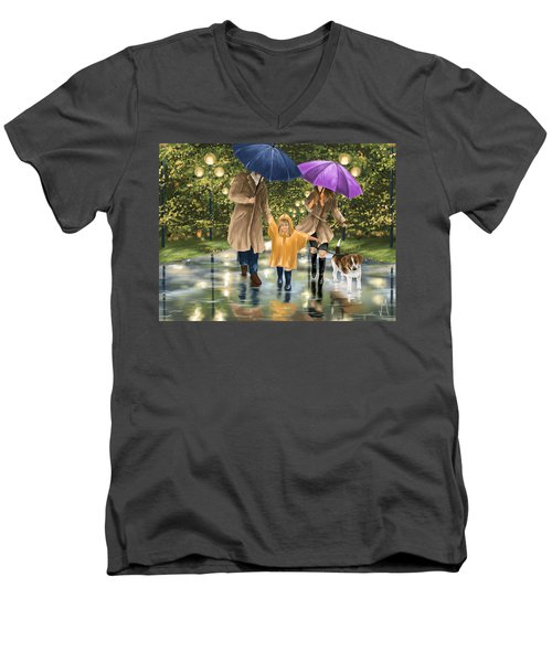 Family Men's V-Neck T-Shirt by Veronica Minozzi