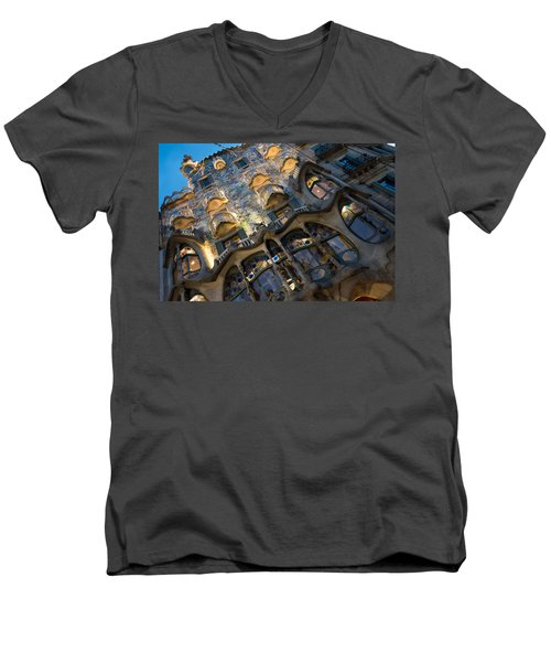 Fantastical Casa Batllo - Antoni Gaudi Barcelona Men's V-Neck T-Shirt