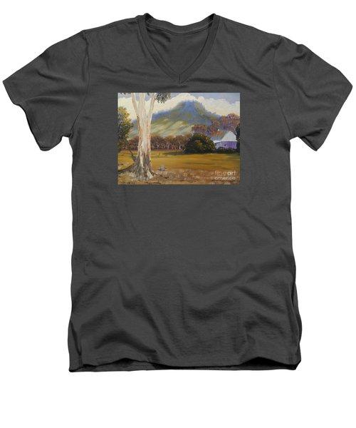 Farm With Large Gum Tree Men's V-Neck T-Shirt