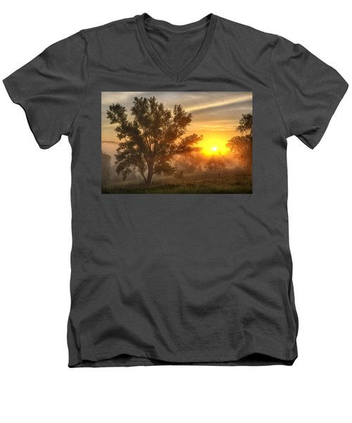 Father's Day Sunrise Men's V-Neck T-Shirt