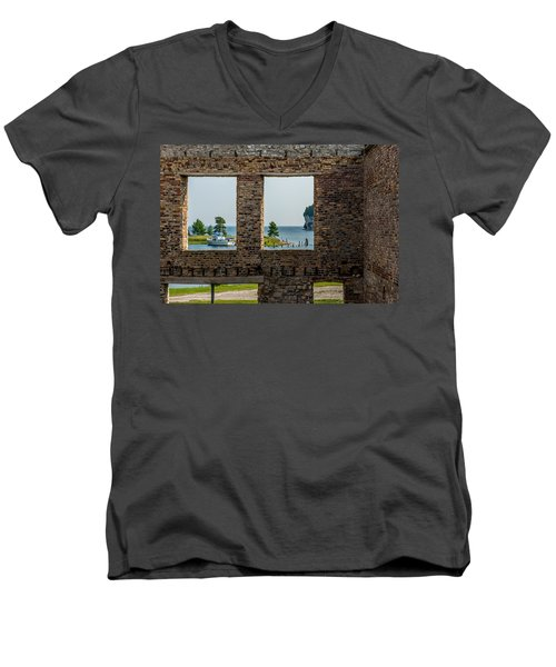 Fayette Ruins Men's V-Neck T-Shirt by Paul Freidlund