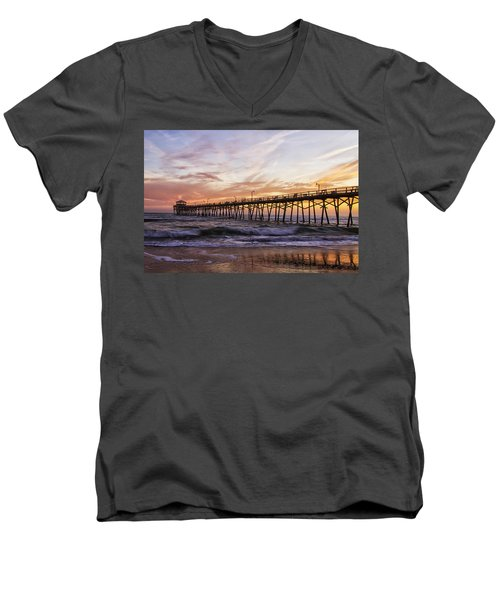 Febuary Sunset On Atlantic Beach Men's V-Neck T-Shirt