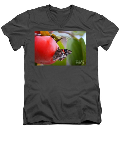 Men's V-Neck T-Shirt featuring the photograph Feeding Time by Erika Weber