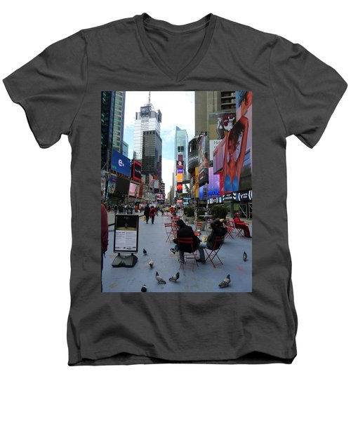 Men's V-Neck T-Shirt featuring the photograph Feeding Time by Jackie Carpenter