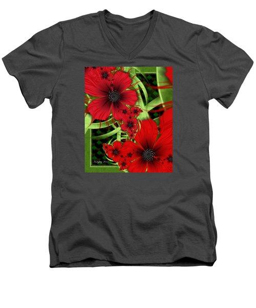 Feelin' Red Men's V-Neck T-Shirt