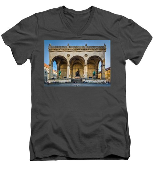 Men's V-Neck T-Shirt featuring the photograph Feldherrnhalle by John Wadleigh