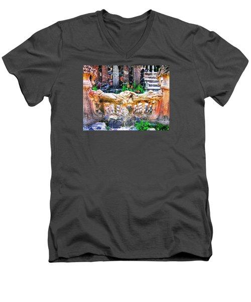 Fence Men's V-Neck T-Shirt by Oleg Zavarzin