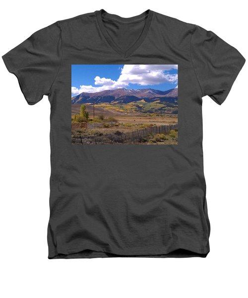 Fenced Nature Men's V-Neck T-Shirt