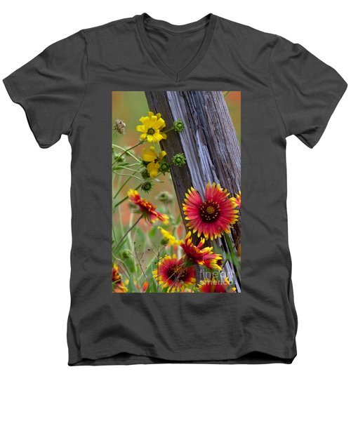 Fenceline Wildflowers Men's V-Neck T-Shirt