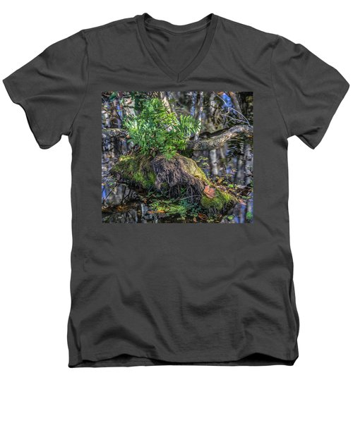 Fern In The Swamp Men's V-Neck T-Shirt