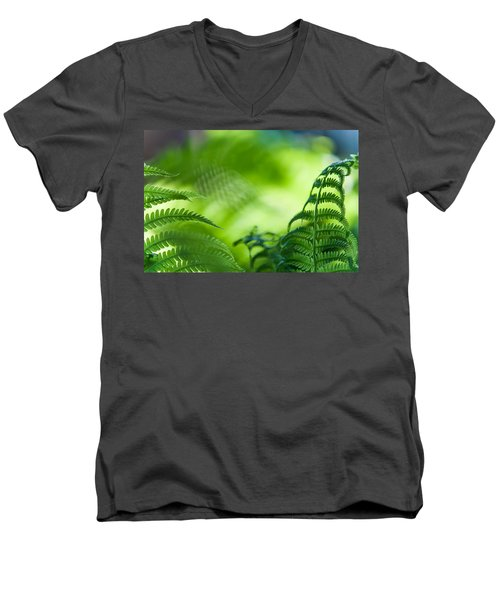 Fern Leaves. Healing Art Men's V-Neck T-Shirt