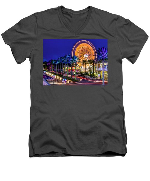 Ferris Wheel At The Wharf Men's V-Neck T-Shirt