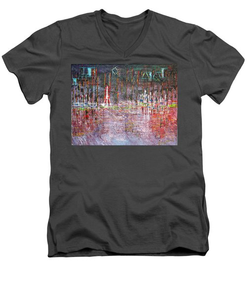 Ferris Wheel Fun - Sold Men's V-Neck T-Shirt by George Riney
