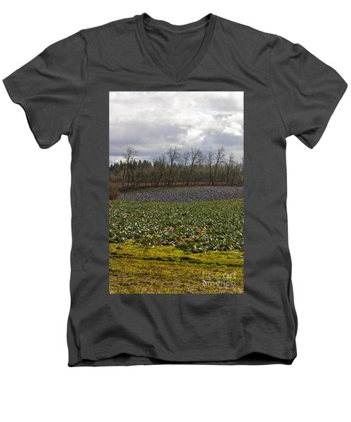 Men's V-Neck T-Shirt featuring the photograph Field Of Color 2 by Belinda Greb