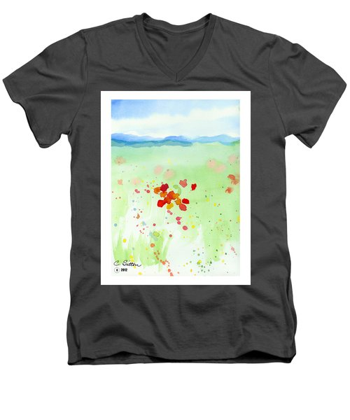 Field Of Flowers 2 Men's V-Neck T-Shirt by C Sitton
