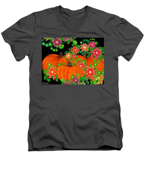 Fiesta Pumpkins Men's V-Neck T-Shirt