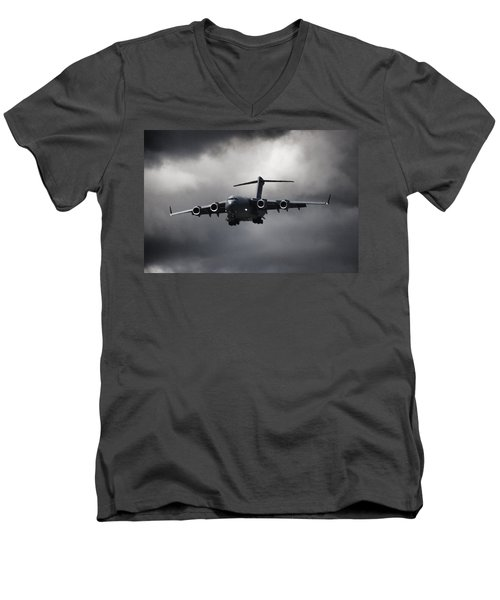Final Approach Men's V-Neck T-Shirt by Paul Job