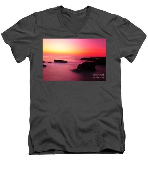 Fine Art - Pink Sky Men's V-Neck T-Shirt