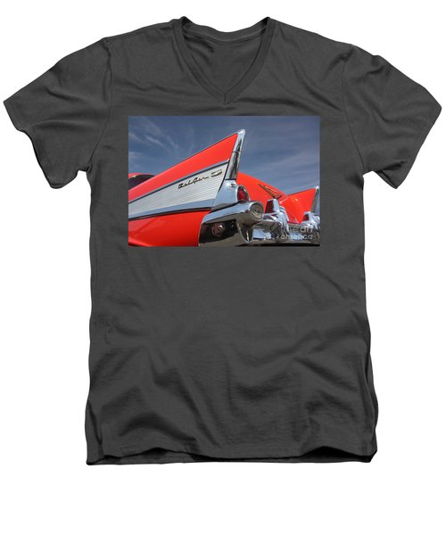 Fintastic '57 Chevy Men's V-Neck T-Shirt