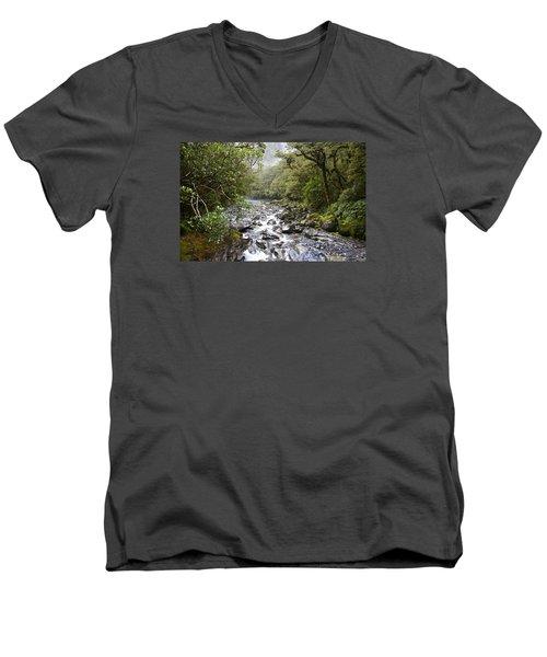 Fiordland National Park New Zealand Men's V-Neck T-Shirt
