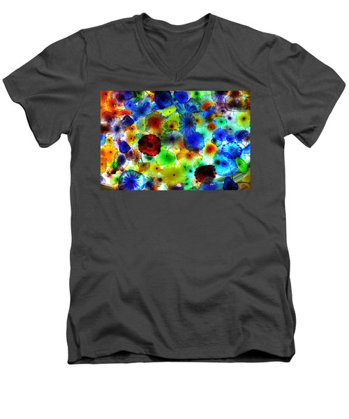 Fiori Di Como By Glass Sculptor Men's V-Neck T-Shirt by Gandz Photography