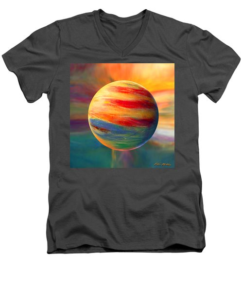 Fire And Ice Ball  Men's V-Neck T-Shirt