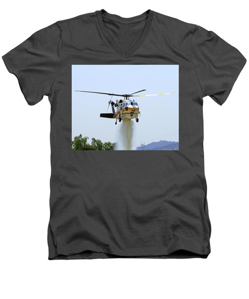Fire Hawk Water Drop Men's V-Neck T-Shirt