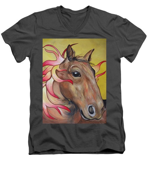 Fire Horse Men's V-Neck T-Shirt