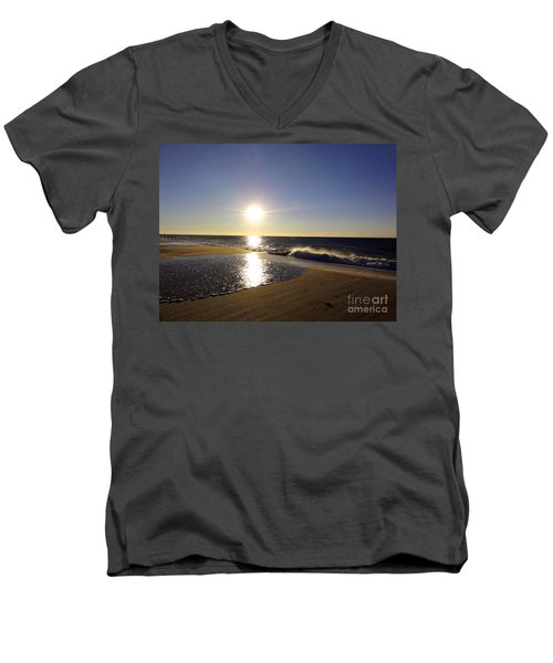 Fire Island Sunday Morning - 13 Men's V-Neck T-Shirt