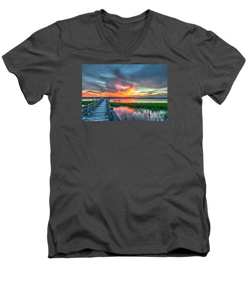 Fire Light Men's V-Neck T-Shirt