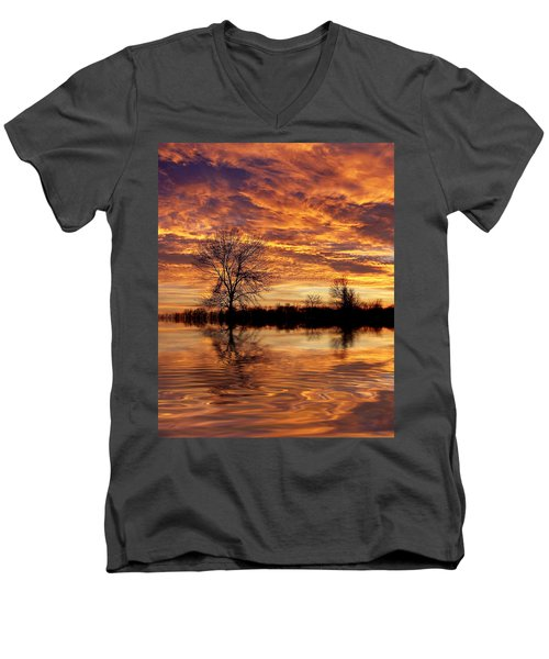 Fire Painters In The Sky Men's V-Neck T-Shirt