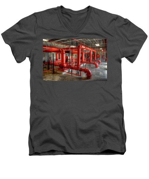 Fire Pump Room 2 Men's V-Neck T-Shirt