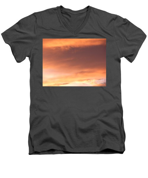 Fire Skyline Men's V-Neck T-Shirt by Joseph Baril
