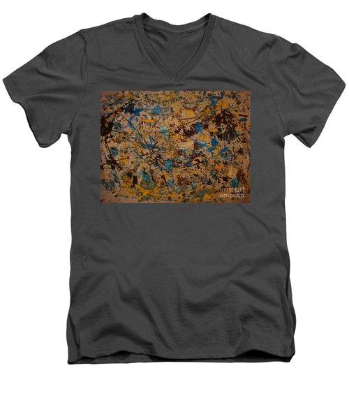 Fire Work Men's V-Neck T-Shirt