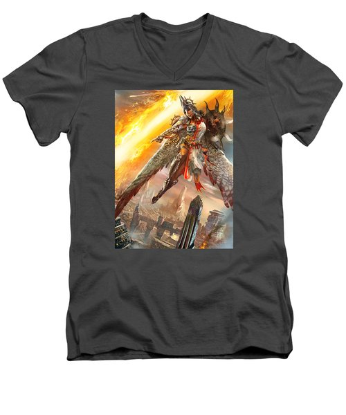 Firemane Avenger Promo Men's V-Neck T-Shirt