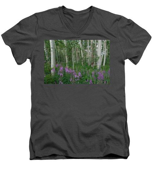 Fireweed And Aspen Men's V-Neck T-Shirt