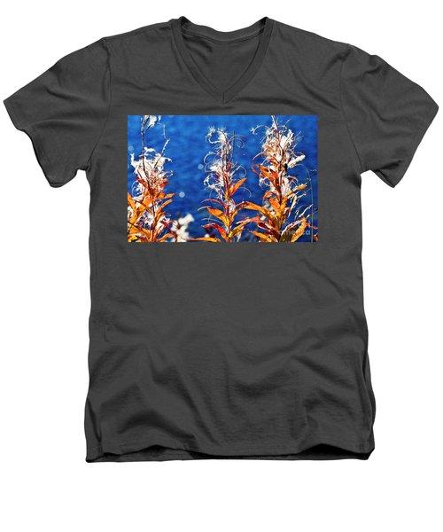 Fireweed Flower Men's V-Neck T-Shirt