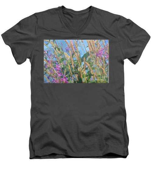 Men's V-Neck T-Shirt featuring the photograph Fireweed Number Six by Brian Boyle