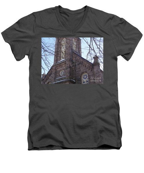 First Baptist Church Men's V-Neck T-Shirt