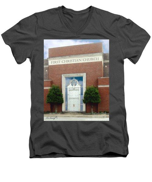 First Christian Church Men's V-Neck T-Shirt