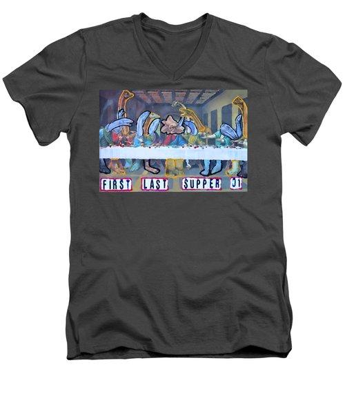 First Last Supper Men's V-Neck T-Shirt