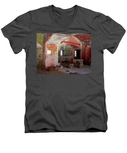First Level Casemates Men's V-Neck T-Shirt