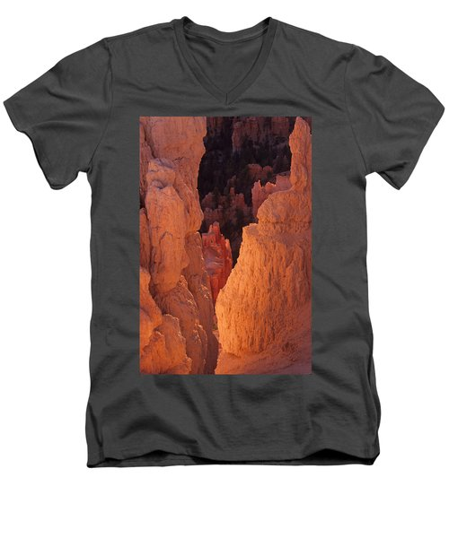 First Light On Hoodoos Men's V-Neck T-Shirt