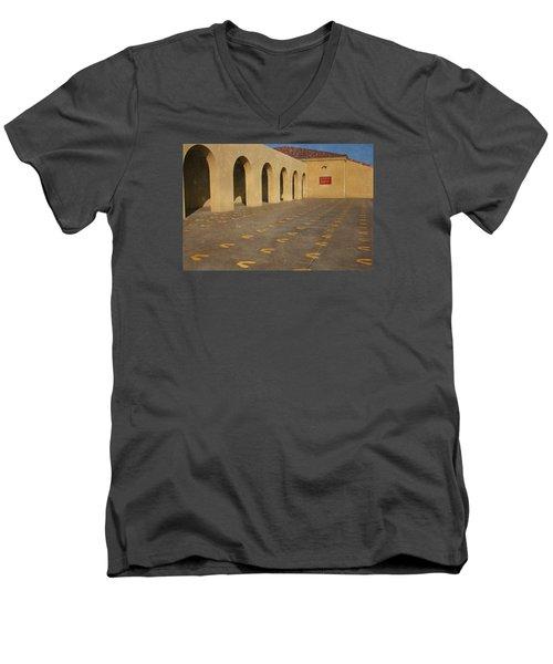First Steps Men's V-Neck T-Shirt by Susan  McMenamin