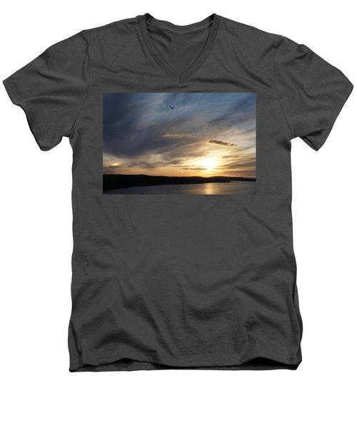 Firth Of Forth In The Sunset Men's V-Neck T-Shirt