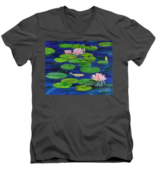 Tranquil Pond Men's V-Neck T-Shirt