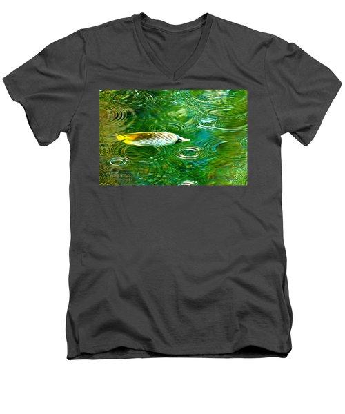 Fish In The Rain Men's V-Neck T-Shirt
