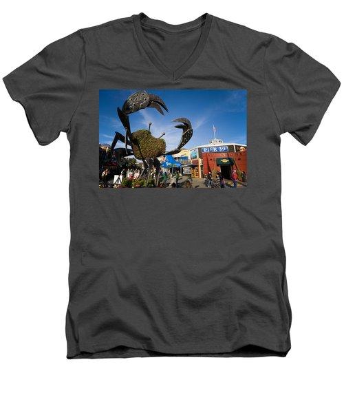 Fishermans Wharf Crab Men's V-Neck T-Shirt