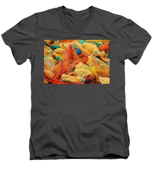 Fishing Float Nets Men's V-Neck T-Shirt