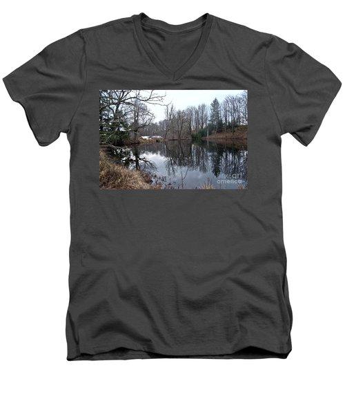 Fishing With Grandma Men's V-Neck T-Shirt